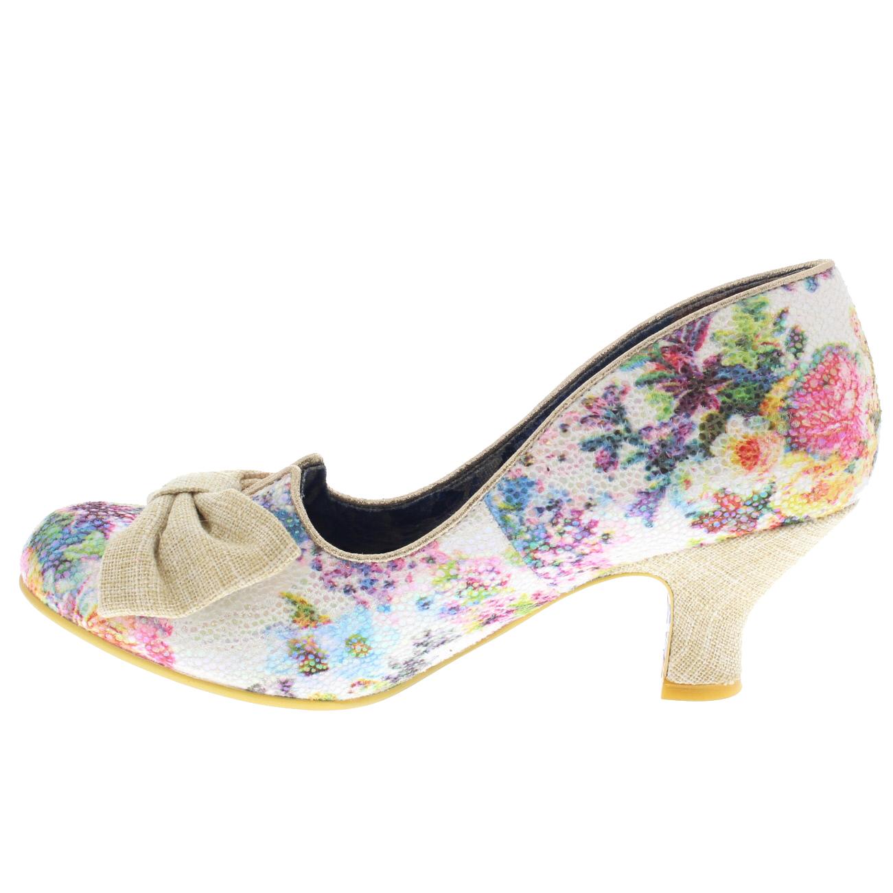 mesdames irrégulier de choix éblouissant razzle talons de irrégulier toutes tailles soirée floral des souliers de court e9c5e2