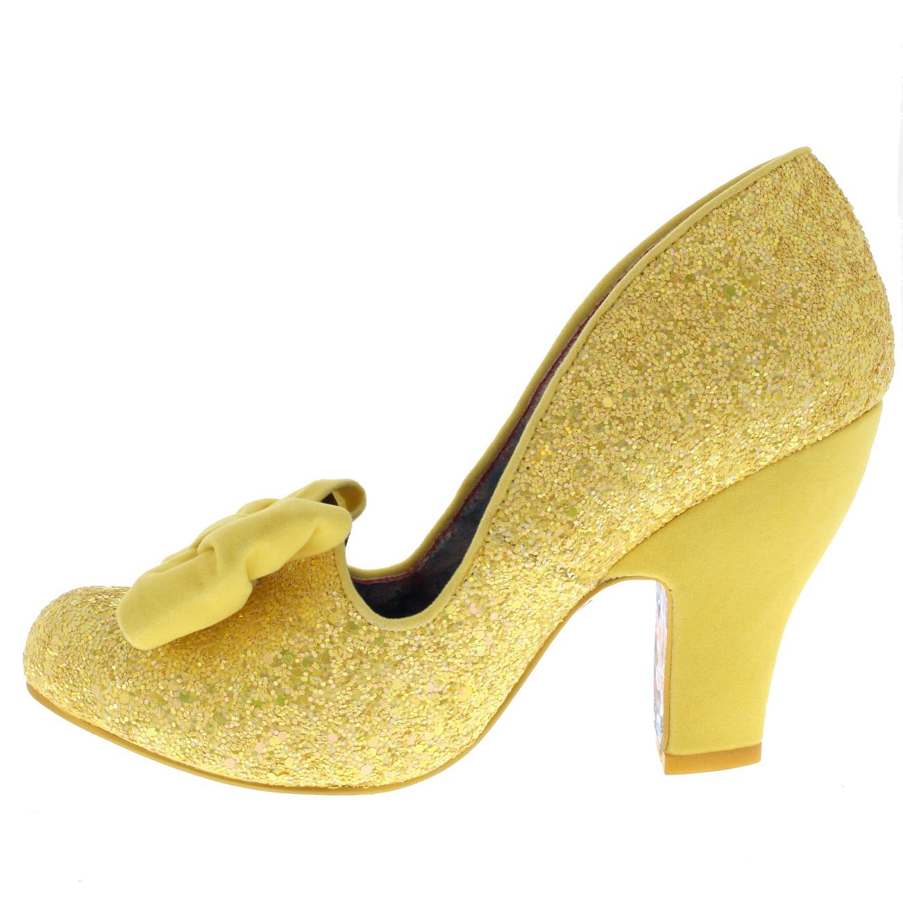 Ladies Irregular Choice Nick Of Time Bridal Wedding Slip On Court Shoe Bll Sizes