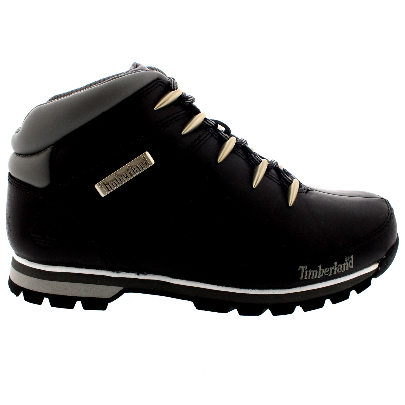 554a8ab3a64 Details about Mens Timberland Euro Sprint Hiker Leather Hikers Black  Trainer Boots All Sizes