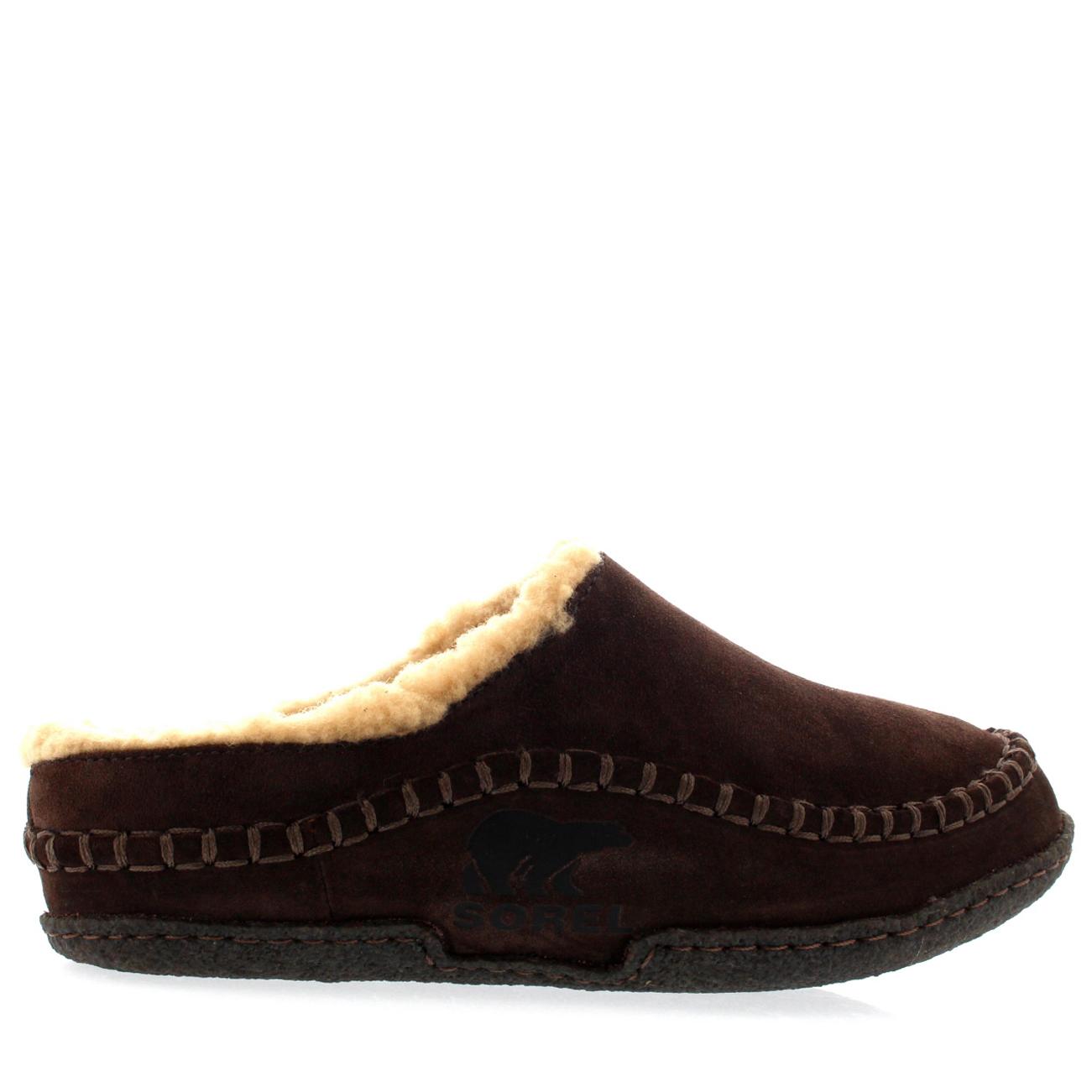 mens sorel falcon ridge casual fur suede winter shoes house slippers