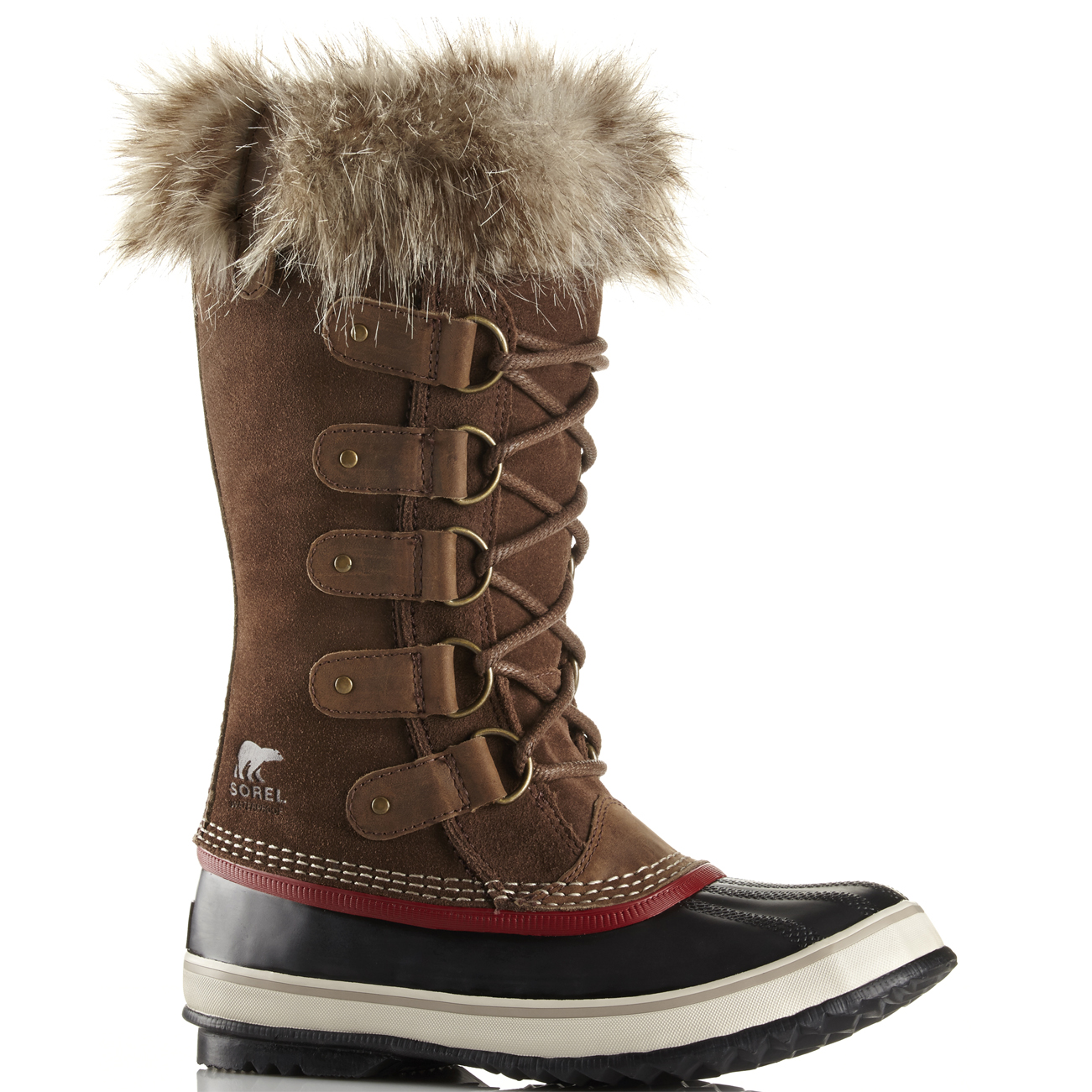Ladies Sorel Joan Of Arctic Lace Up Rain Snow Fur Lined Hiker Boots All Sizes
