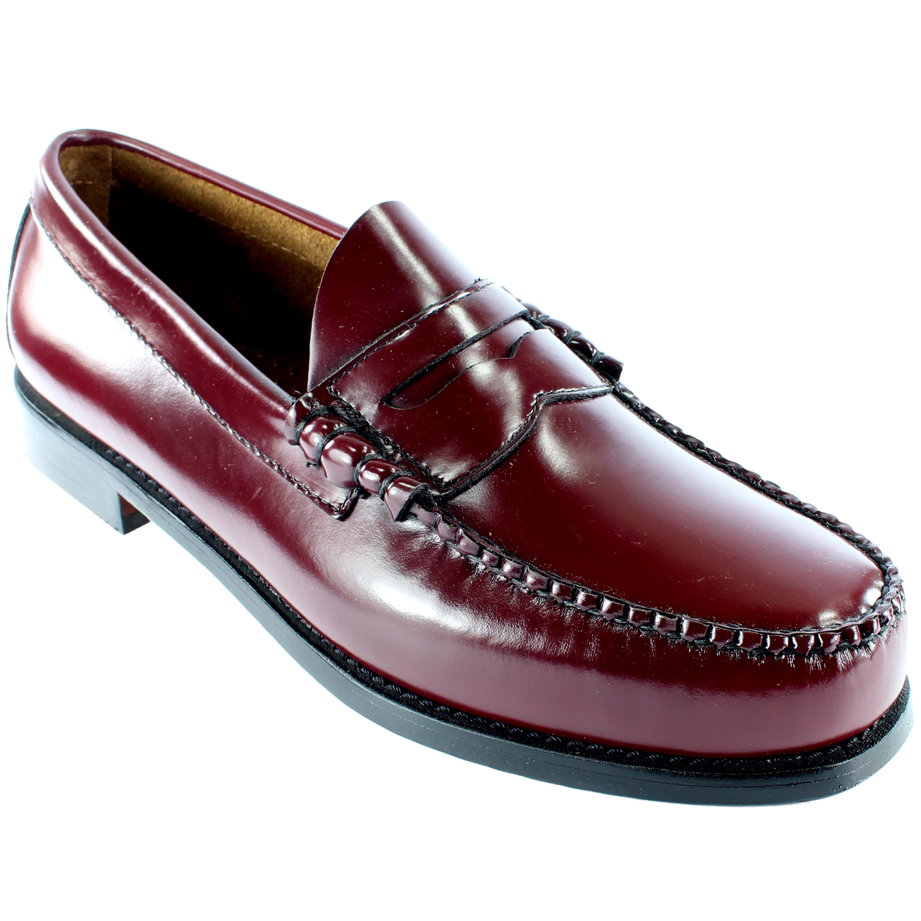 Mens Gh Bass Larson Slip On Smart Penny Loafer Flat Leather Shoes