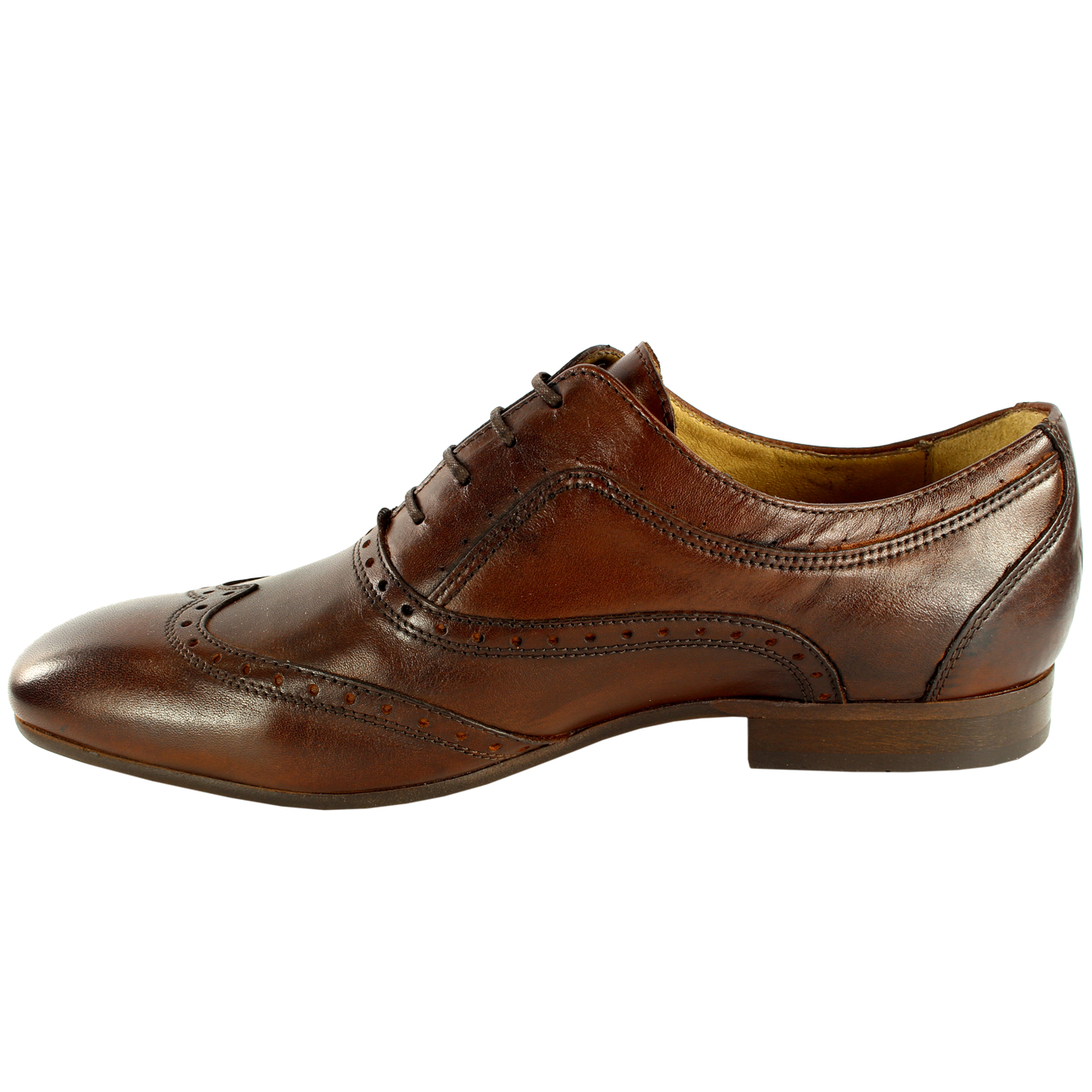 Uomo H By Up Hudson Francis Brogue Lace Up By Formal Smart Leder Schuhes New All Größes fccfb5