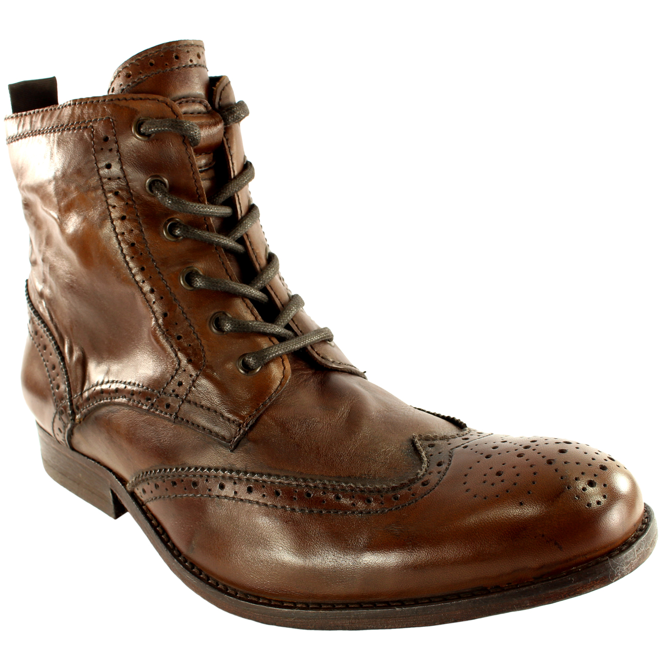 625f09469c87 Mens H By Hudson Angus Brogue Leather Lace Up Smart Ankle Boots New All  Sizes