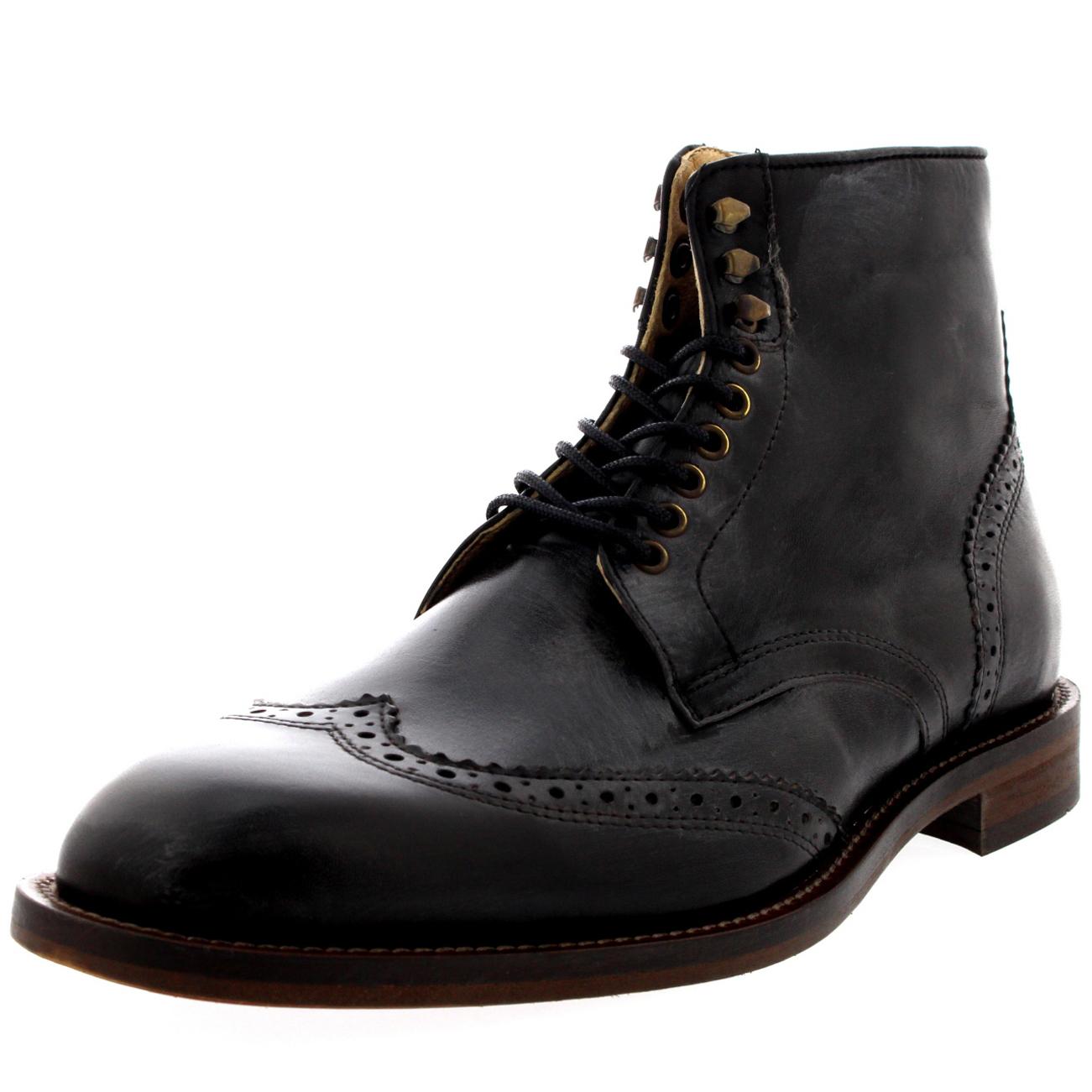 Mens H By Hudson Greenham Lace Up Formal Work Flat Flat Flat Ankle Boots Shoes All Sizes 095a16