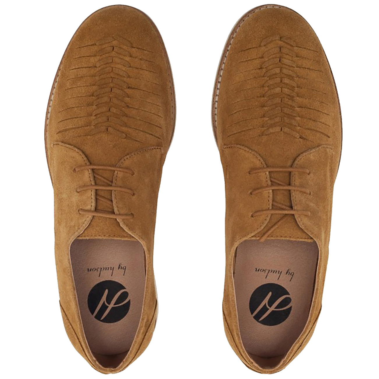 Mens H By Hudson Chatra Formal Lace Up Weave Summer Work Flat Shoes All Sizes