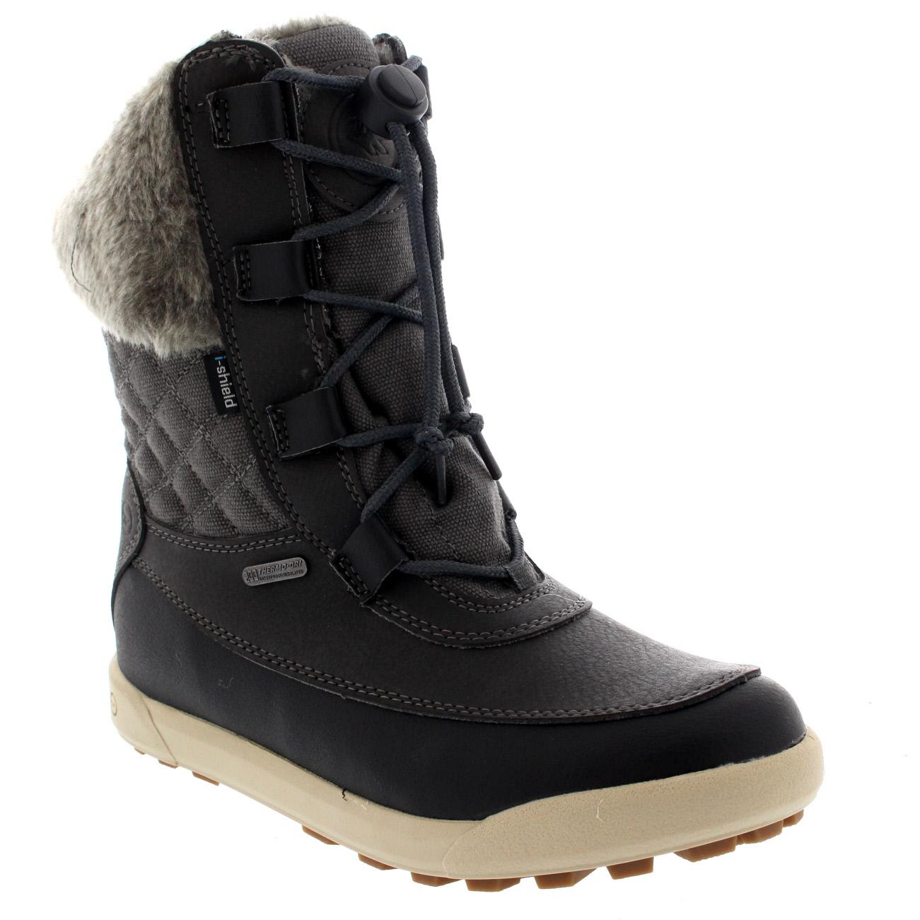Ladies-Hi-Tec-Dubois-200-Leather-Laced-Rain-Mid-Calf-Winter-Snow-Boots-All-Sizes