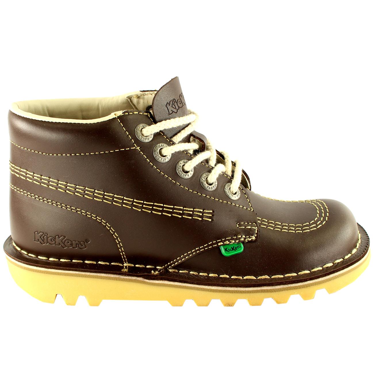 Unisex Kids Junior Kickers Kick Hi Back To School Leather Boot Shoes ... 91b8b082694