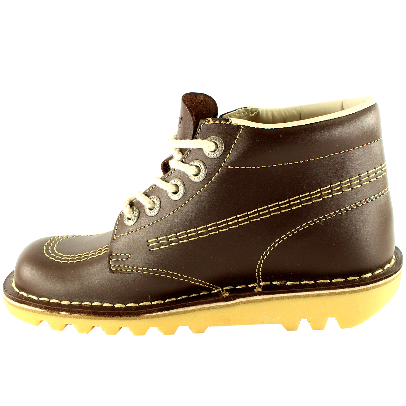 4cff0aaf05 Ladies Kickers Kick Hi Core Classic Leather Office Work Boots Shoes ...