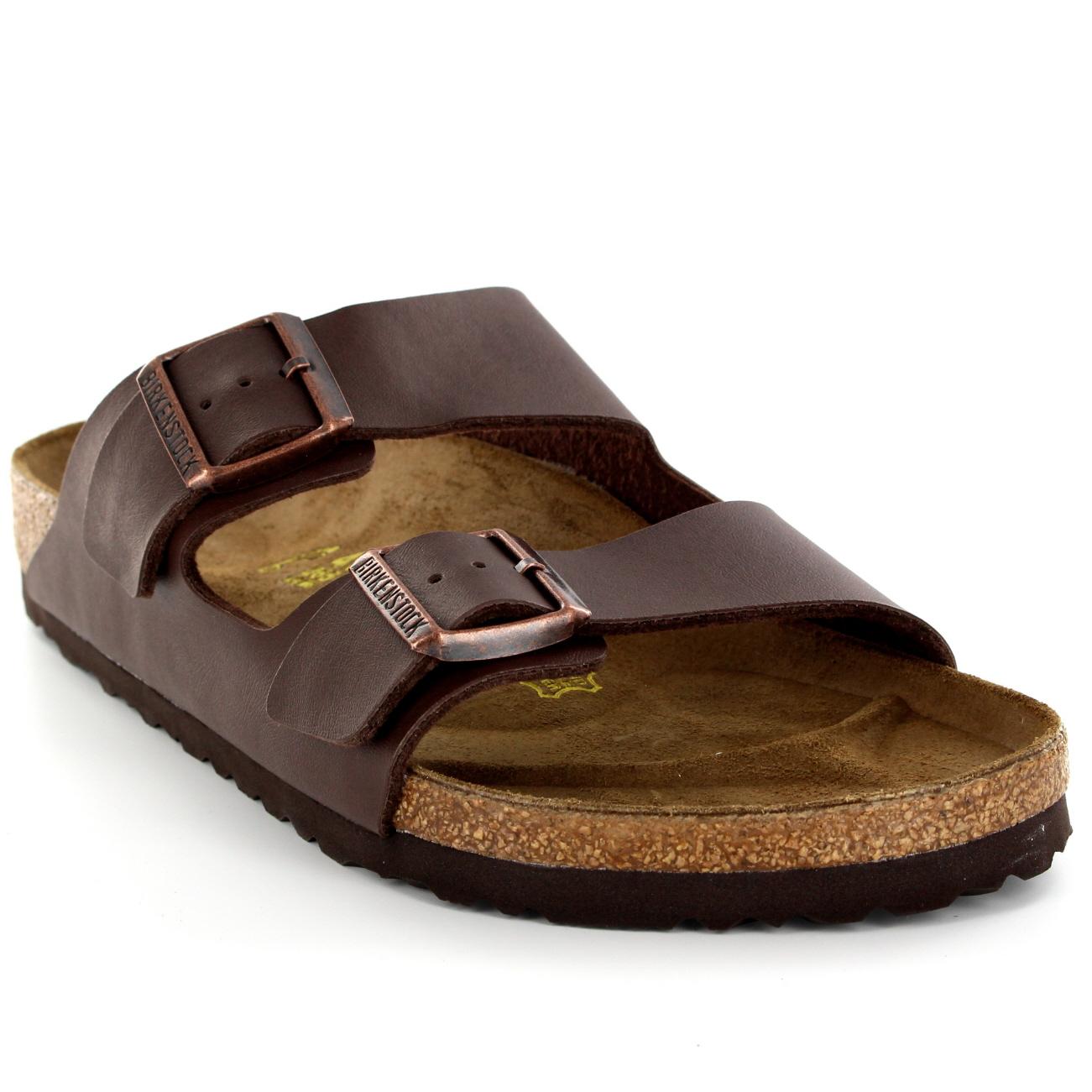 ab2bf75480 Mens Birkenstock Arizona Leather Buckle Summer Holiday Beach Sandals ...