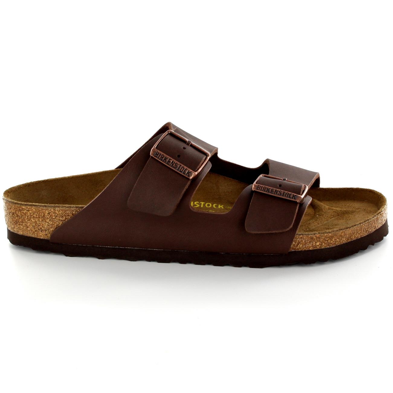 df6e170f8809 Mens Birkenstock Arizona Leather Buckle Summer Holiday Beach Sandals UK 6-13