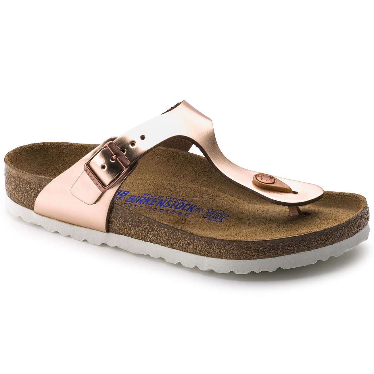 Details about Ladies Birkenstock Gizeh Soft Foot Bed Thong Holiday Open Toe Sandals All Sizes