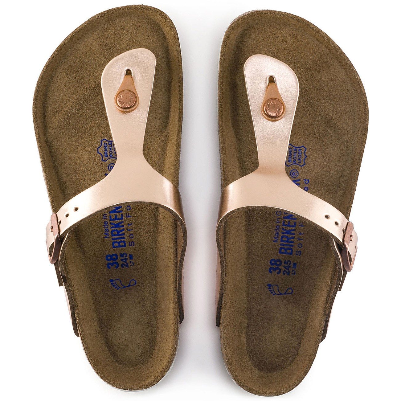 Ladies Birkenstock Gizeh Soft Foot Bed Thong Holiday Open Toe Sandals All Sizes