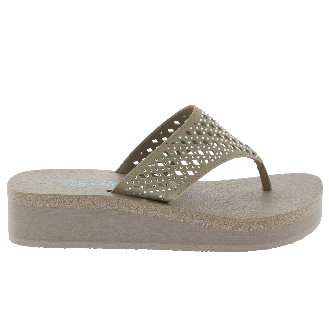 f2971ca3aba Details about Ladies Skechers Vinyasa Flow Sandals Toe Post Thong Platform  Flip Flop All Sizes