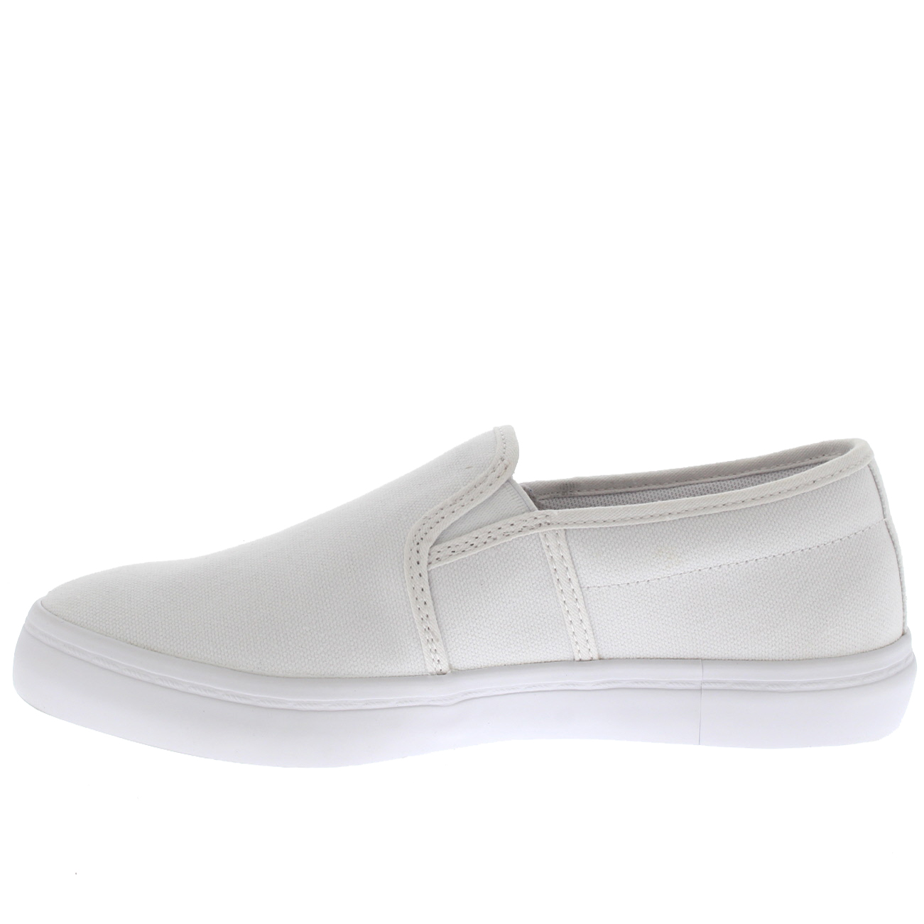 92d2de3b4b2e70 Ladies Lacoste Gazon BL 2 Canvas White Tennis Flat Fashion Trainers All  Sizes