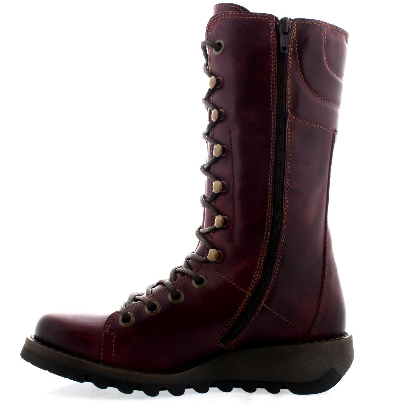 Damen Fly London Schnüren Ster Mitte Wade Schnüren London Mode Winter Beiläufig Stiefel EU 36-43 74b6aa