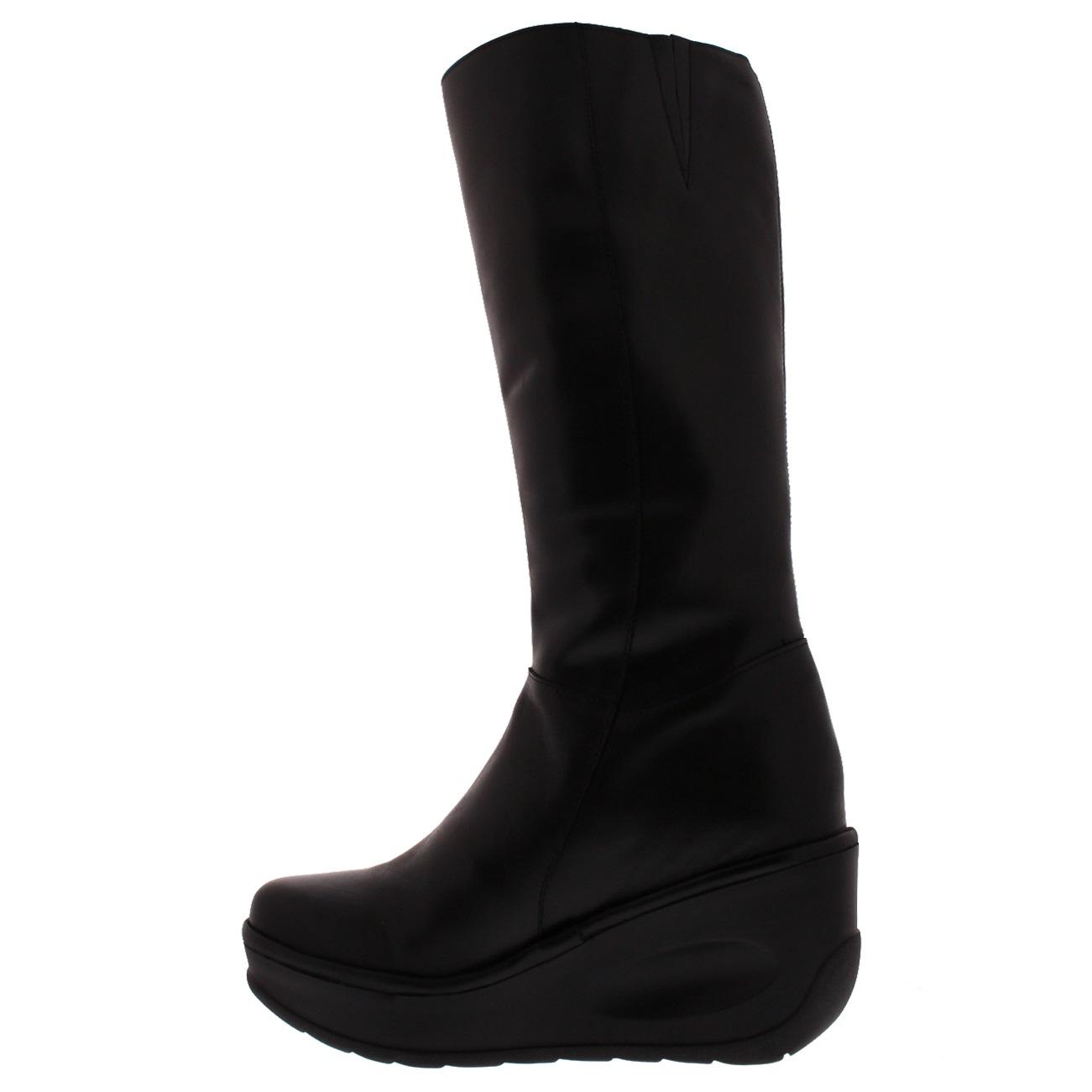 Damen Fly London Jate Leder Winter Winter Leder Mode Keilabsatz Knie Hoch Stiefel EU 36-43 d3f5f2