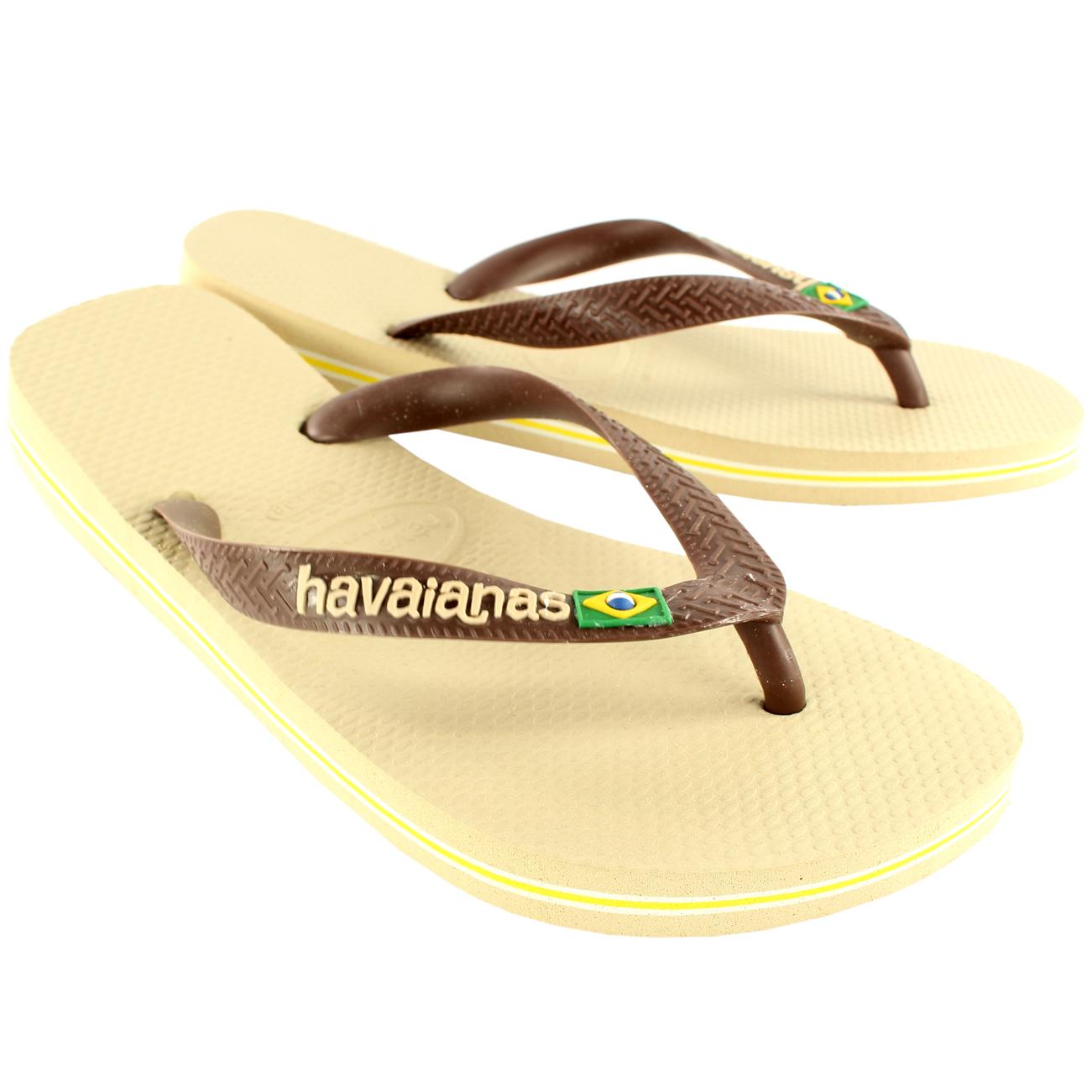Damen Havaianas Brasil Logo Schlüpfen-Auf Flip Flops Sommer Strand-Sandalen Neu - Schwarz - 37/38 yKNThnBAKn