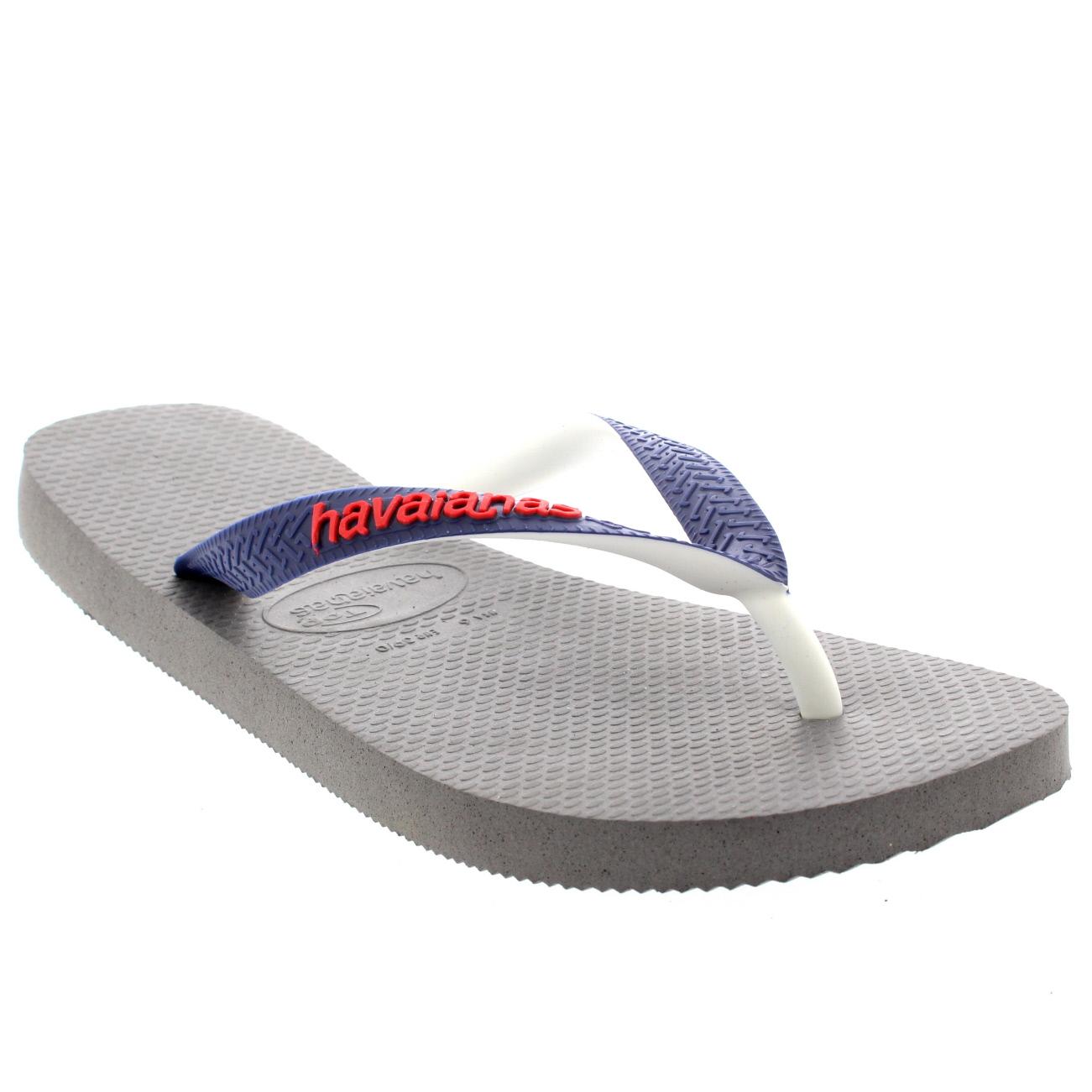 Havaianas Damen Top Mix Lässig Strand Sommer Urlaub Flip Flops Sandalen - Marine/Grau/Grün - 39/40 0ZIjm