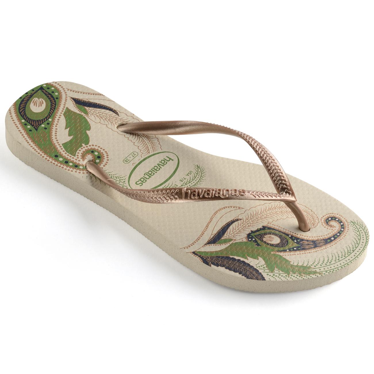 Havaianas Damen Slim Organic Gummi Leicht Strand Mode Sommer Flip Flops - Marine/Silber - 39/40 R4bLnuXGQm