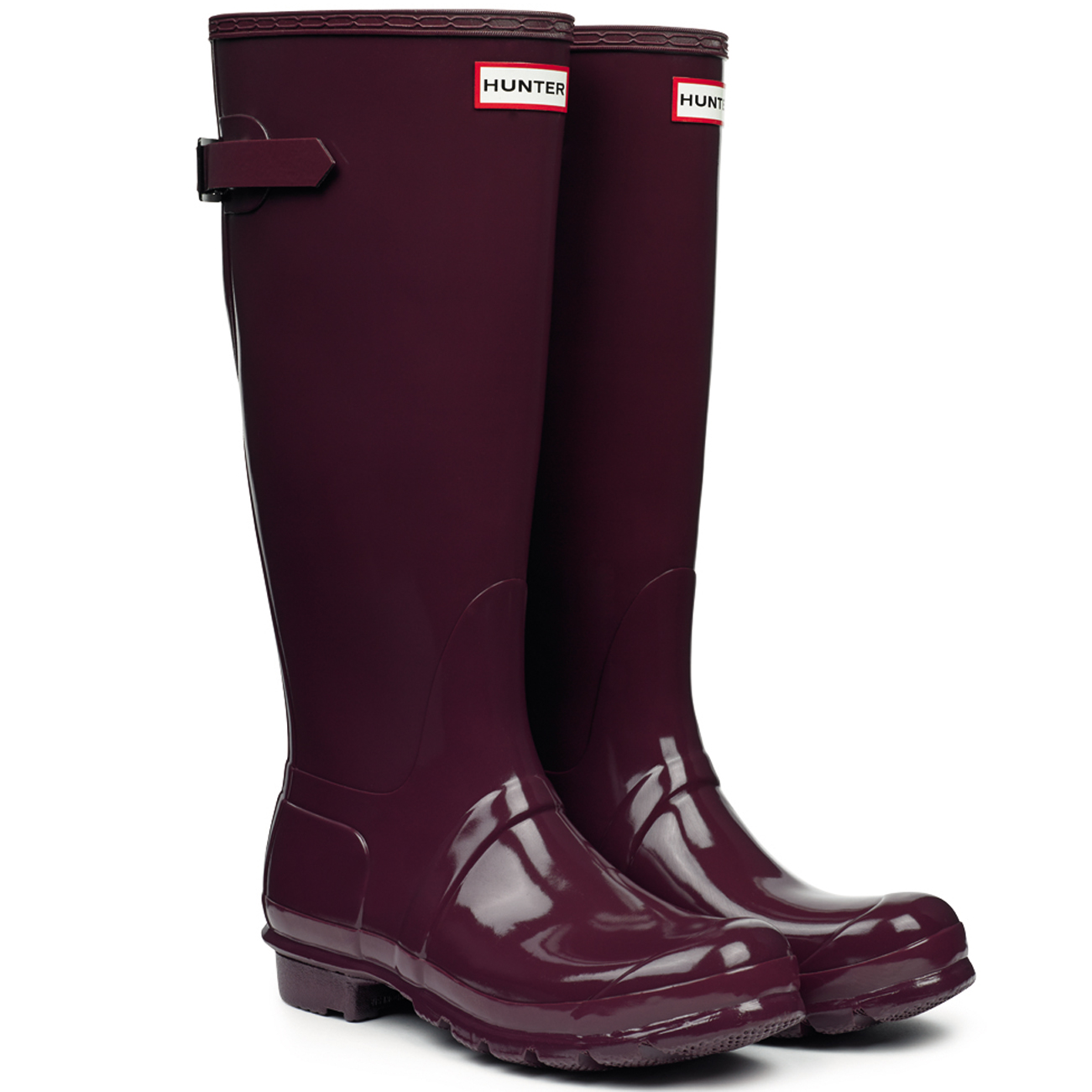 Damen Hunter Original Adjustable Back Gloss 35-42 Schnee Gummistiefel Stiefel EU 35-42 Gloss 360162