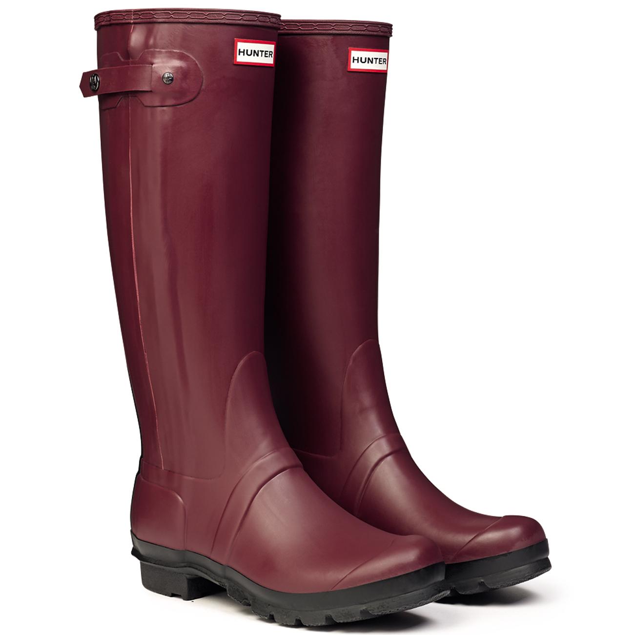 new concept 8daa3 7b7aa Details zu Damen Hunter Original Slim Two Toned Gummistiefel Schnee Regen  Stiefel EU 35-42