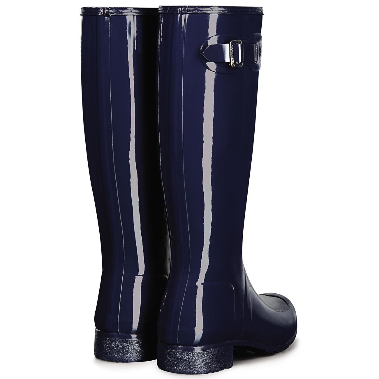 f7f9a7dc90baae Womens Hunter Original Tour Gloss Wellington Boot Wellies Rain Boots ...