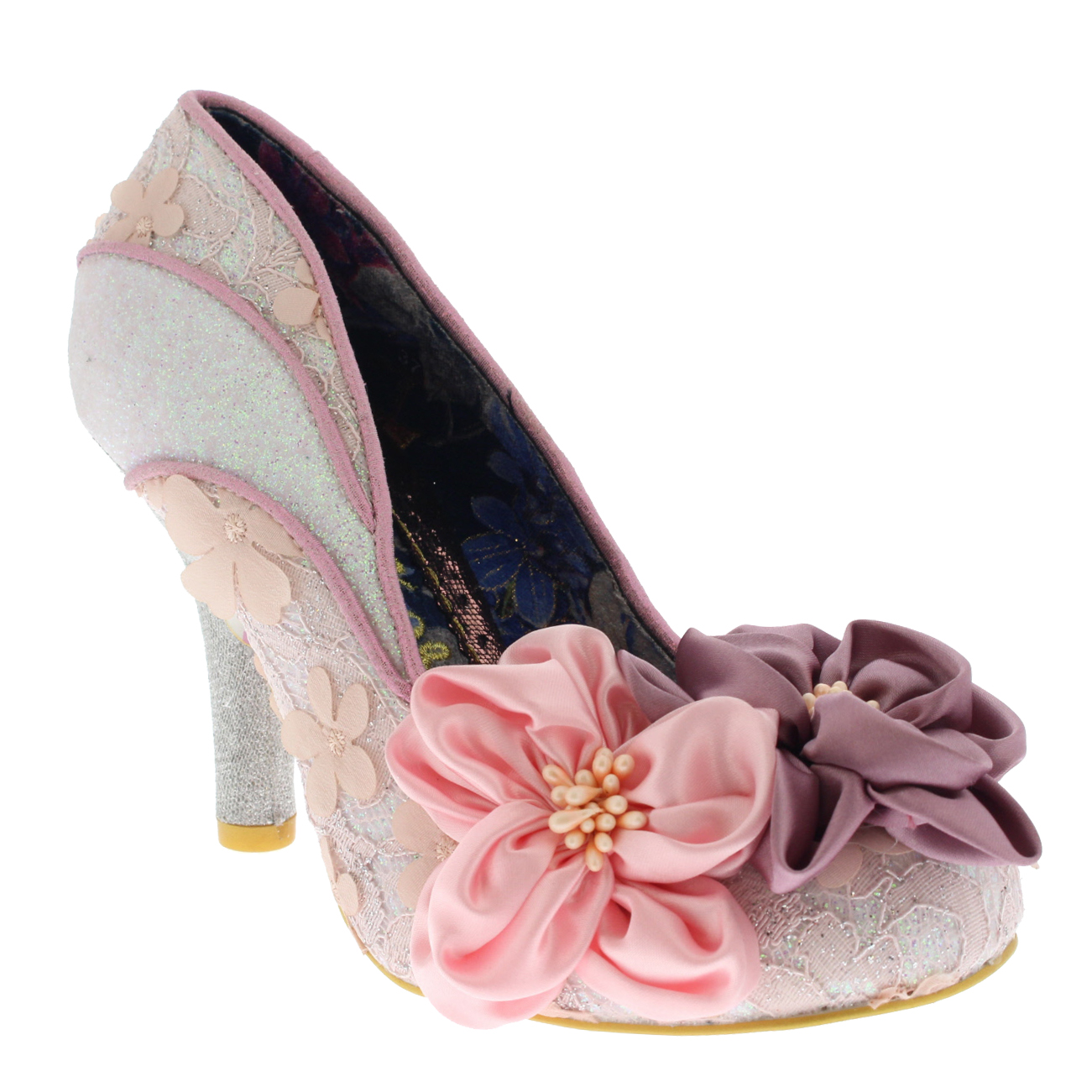 Señora irregular Choice peach melba brillo alto tribunal talón zapato zapato zapato UE 36-43 9f5f3d