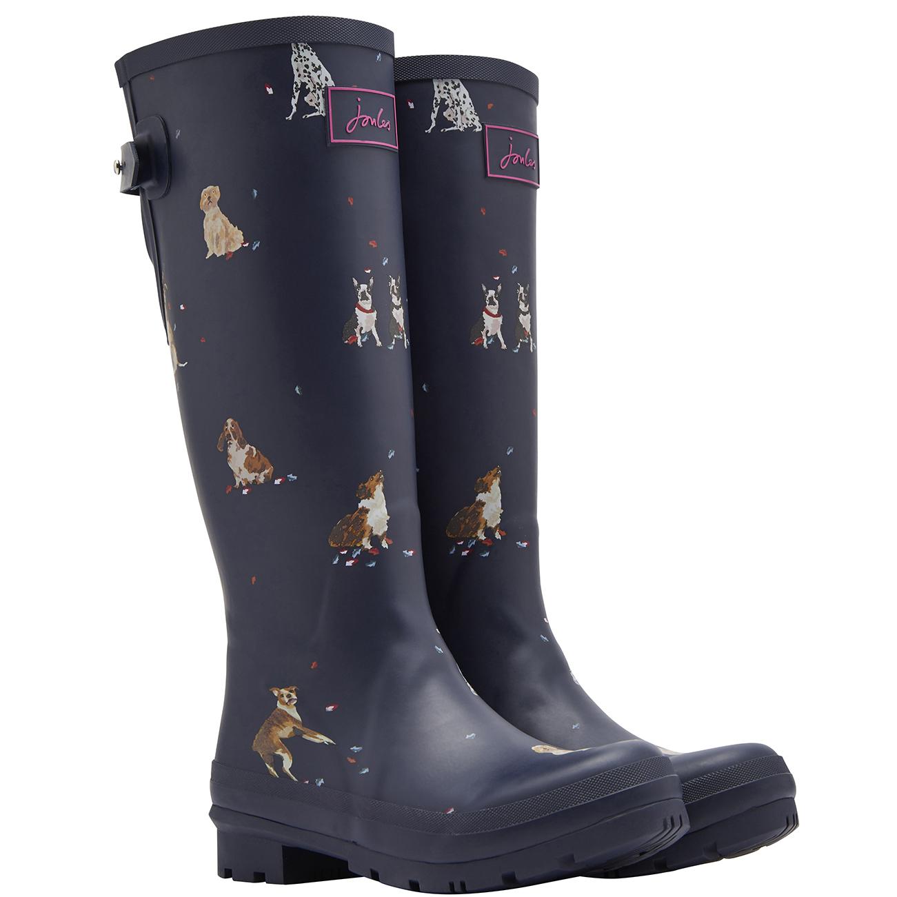 4e41d0f480f1 Womens Joules Printed Wellies Waterproof Wellington Wellies Boots EU 36-42  | eBay