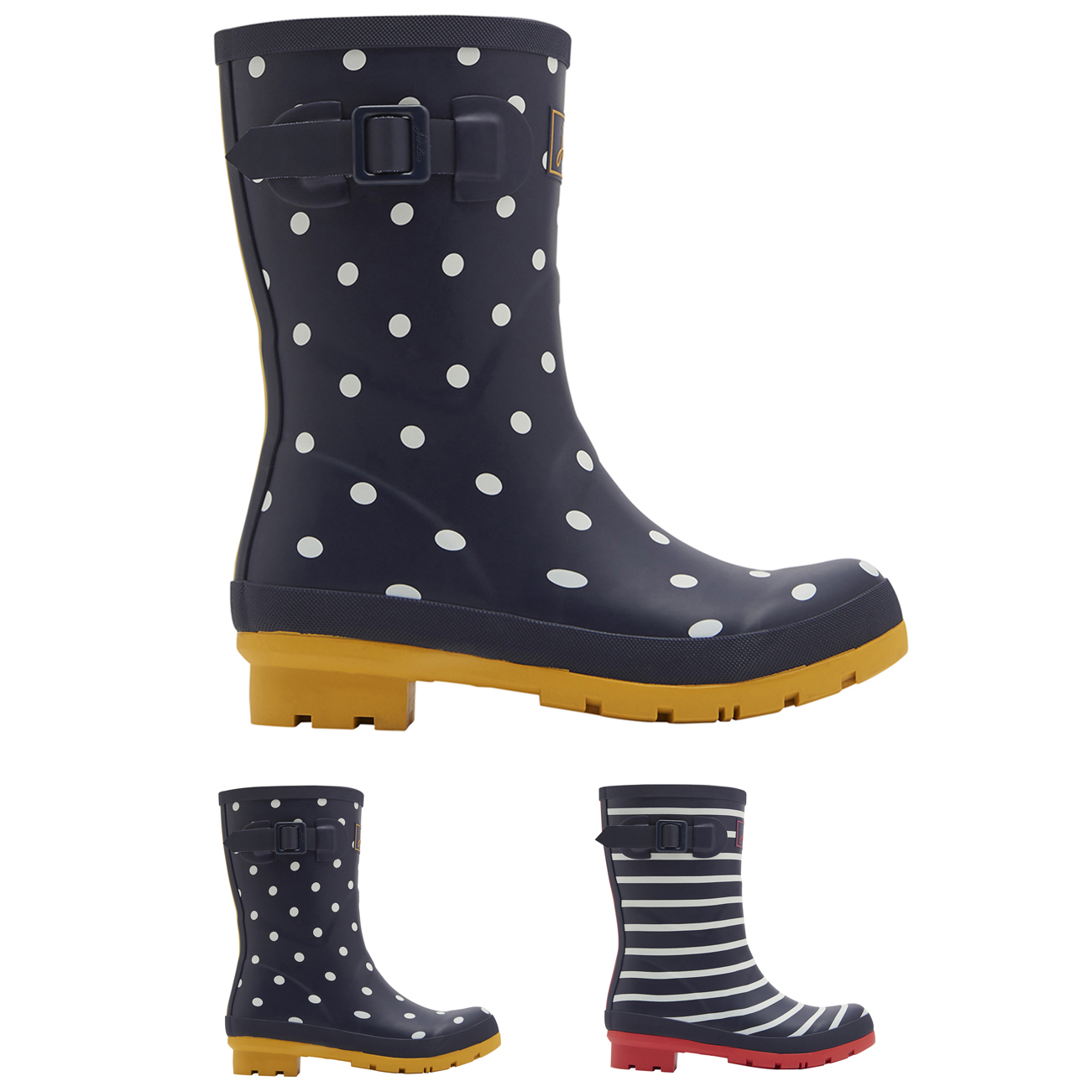Damen Joules Molly Mid Height Printed Wellies Wasserdicht Gummi Stiefel EU 36-42