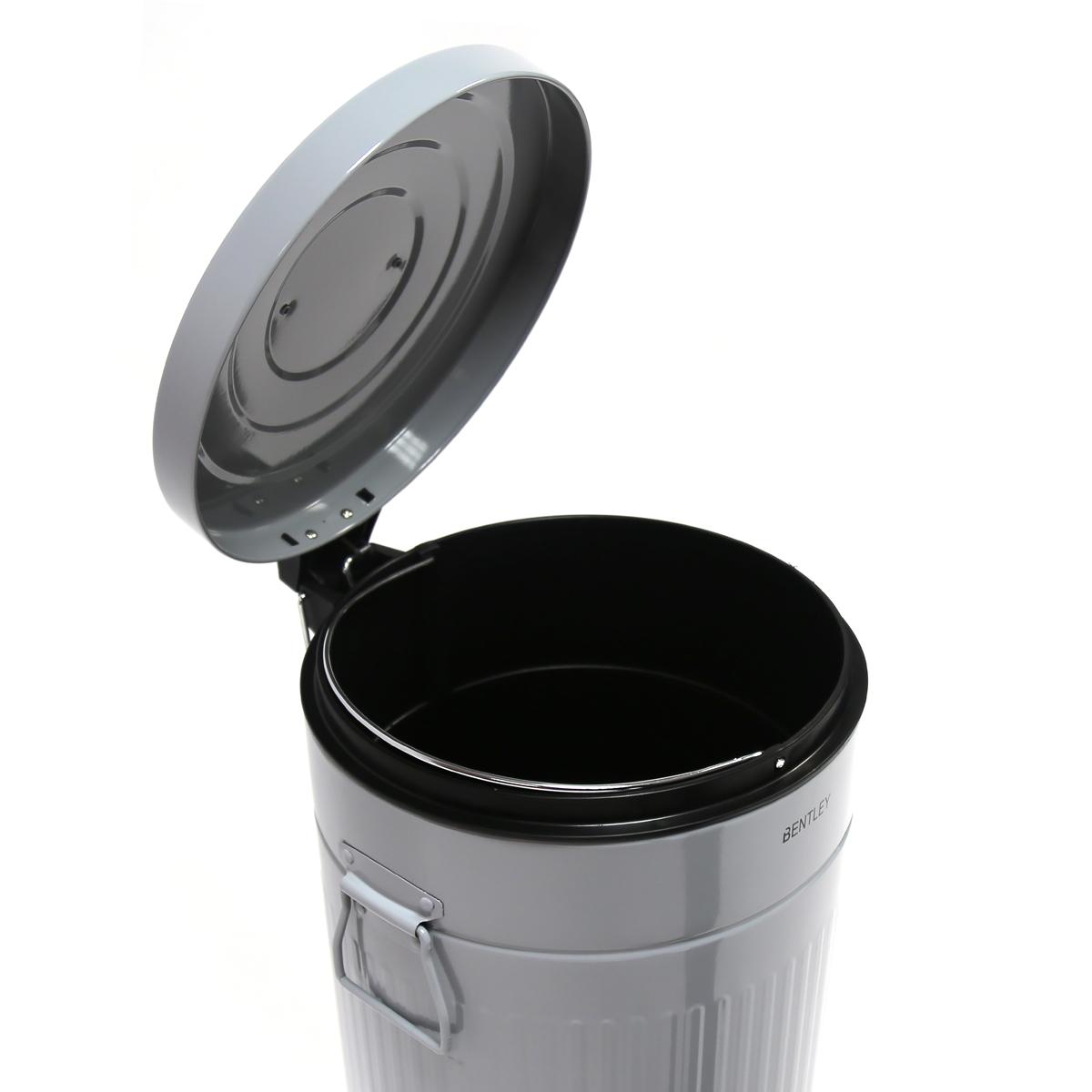 Bentley Home 30L Retro Steel Waste Rubbish Kitchen Pedal Bin ...