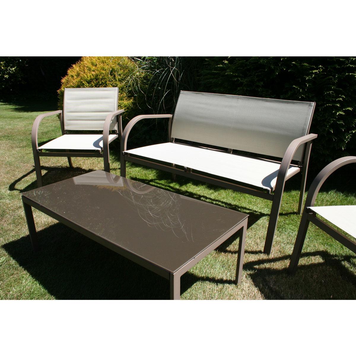 Charles Bentley Garden Modern Mesh Lounge Outdoor