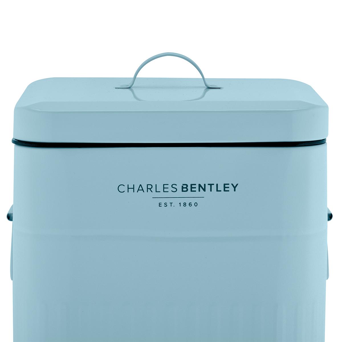 Charles Bentley 30L Steel Square Retro Kitchen Pedal Waste Bin ...