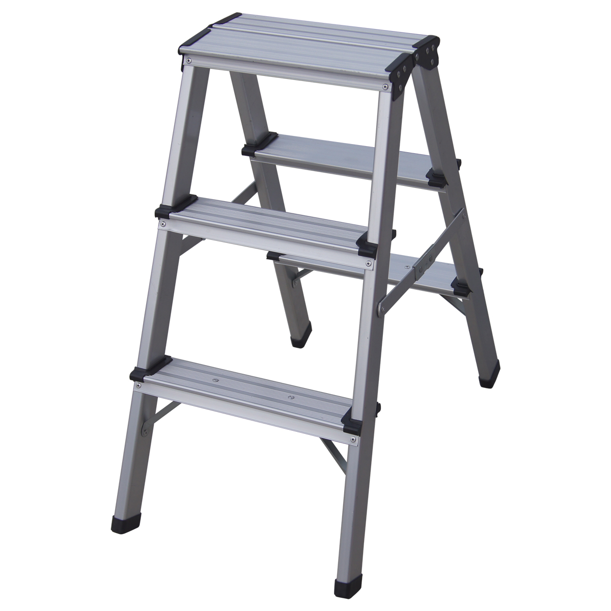 Charles Bentley Mini Step Ladder Made Of Aluminium With 3