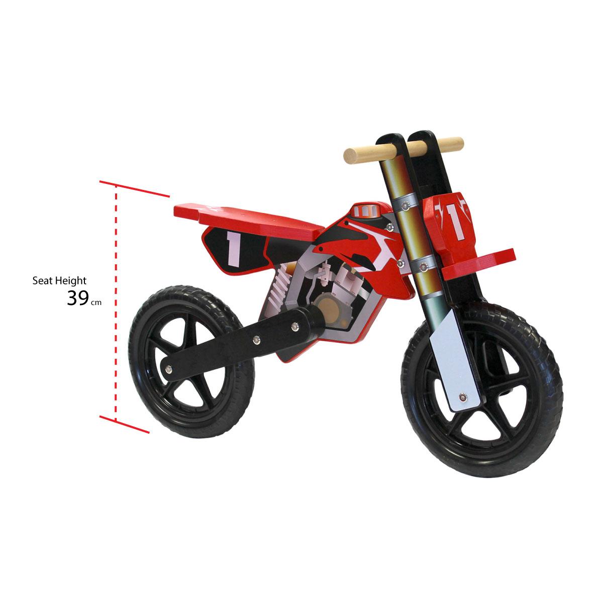 draisienne en bois style moto v lo d 39 quilibre enfant bleu rouge vert. Black Bedroom Furniture Sets. Home Design Ideas