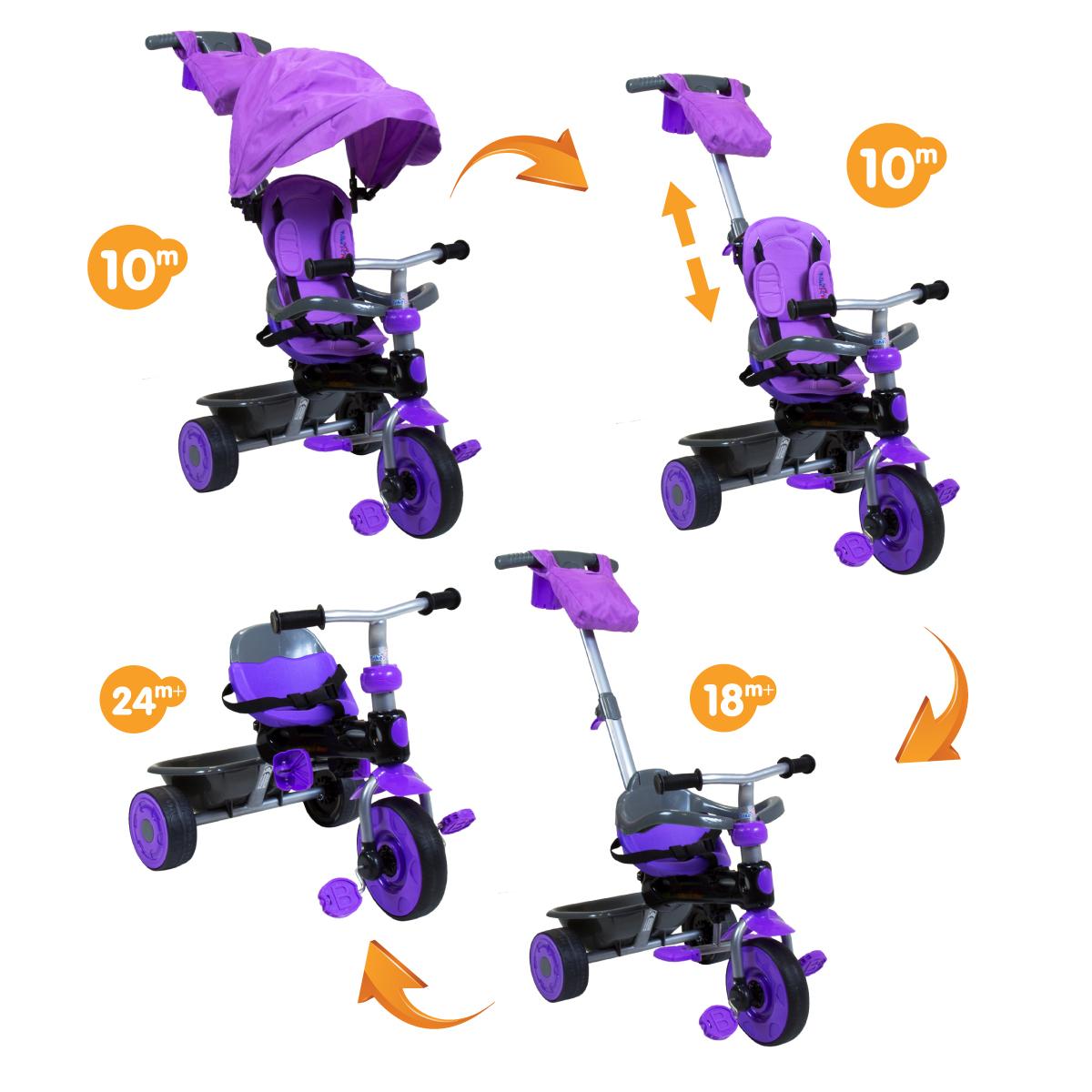 Tricycles pour adultes avec auvent