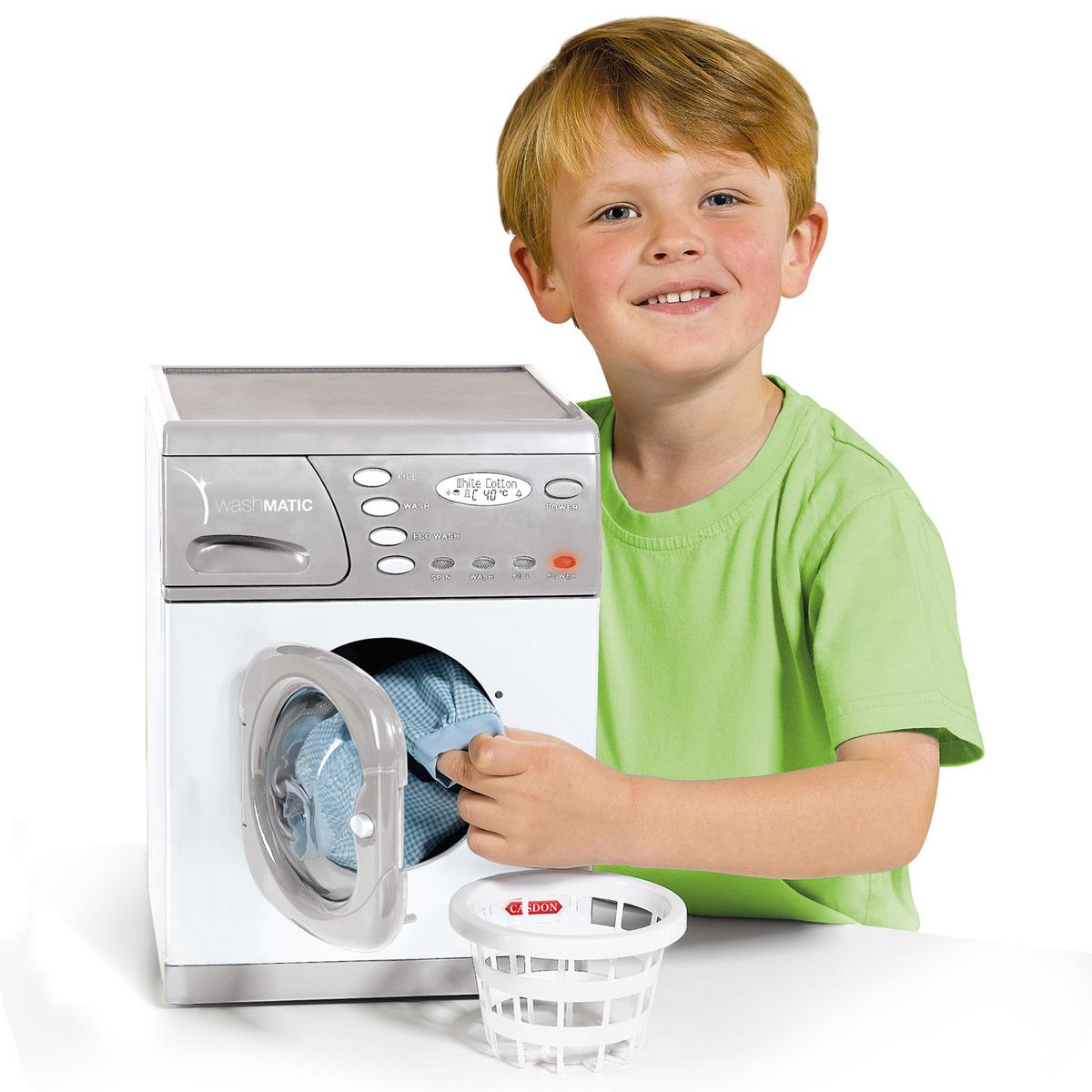 casdon elektrische spiel waschmaschine f r kinder korb. Black Bedroom Furniture Sets. Home Design Ideas