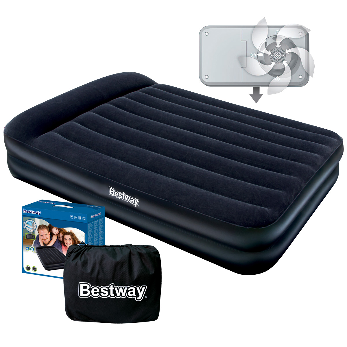 Bestway Queen Size Luxury Inflatable Mattress Air Bed