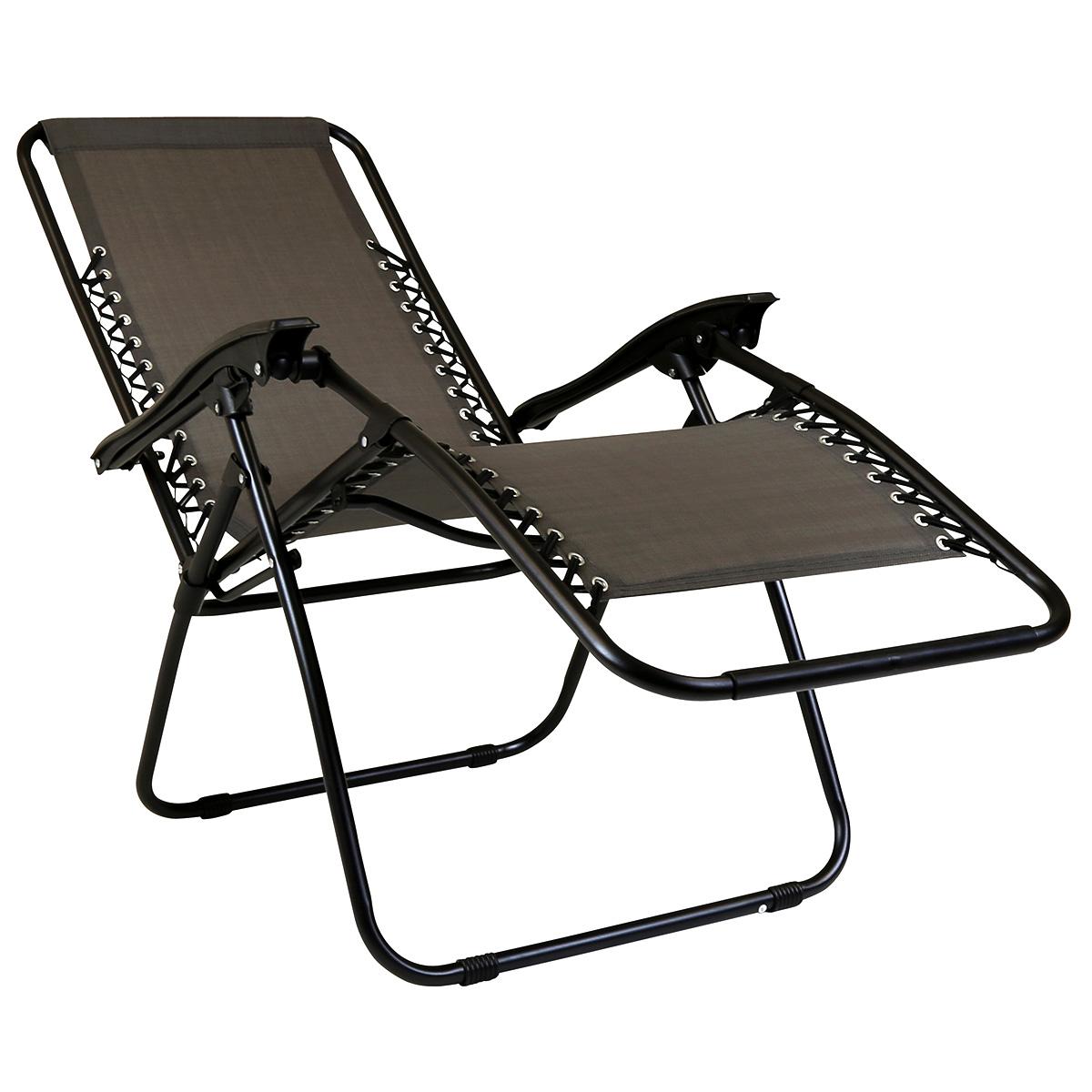 Charles Bentley Folding Reclining Garden Chair Camping