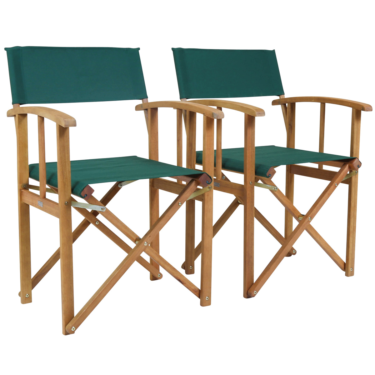 Charles Bentley Pair Of Folding Wooden Directors Chairs