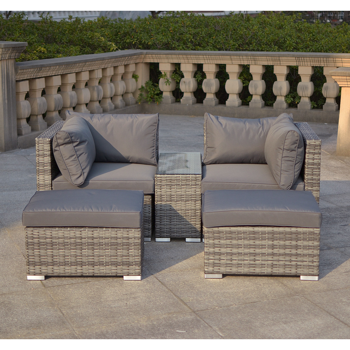 Excellent With Rattan Lounge Set