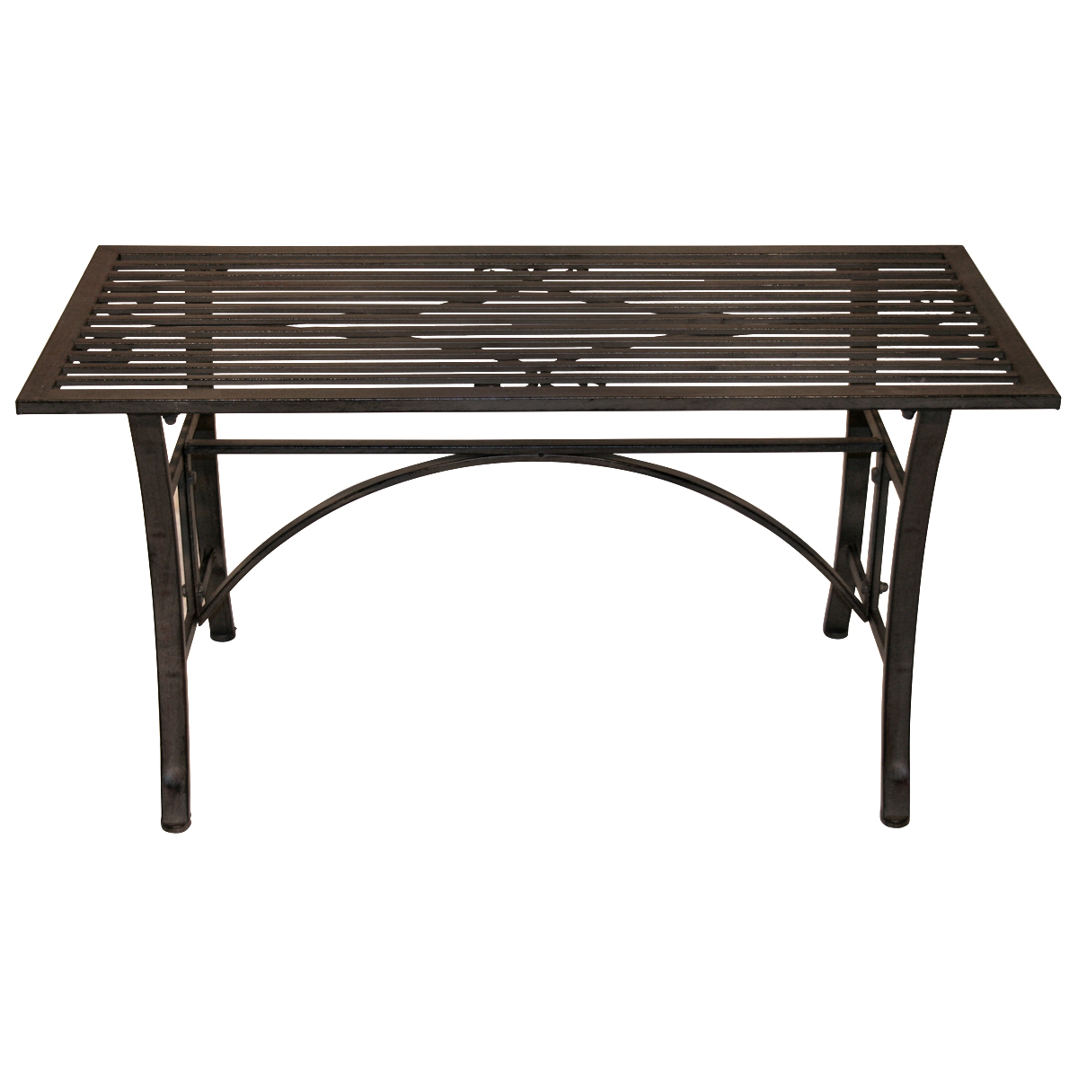 Charles bentley wrought iron coffee table outdoor patio garden metal table grey ebay Wrought iron coffee tables