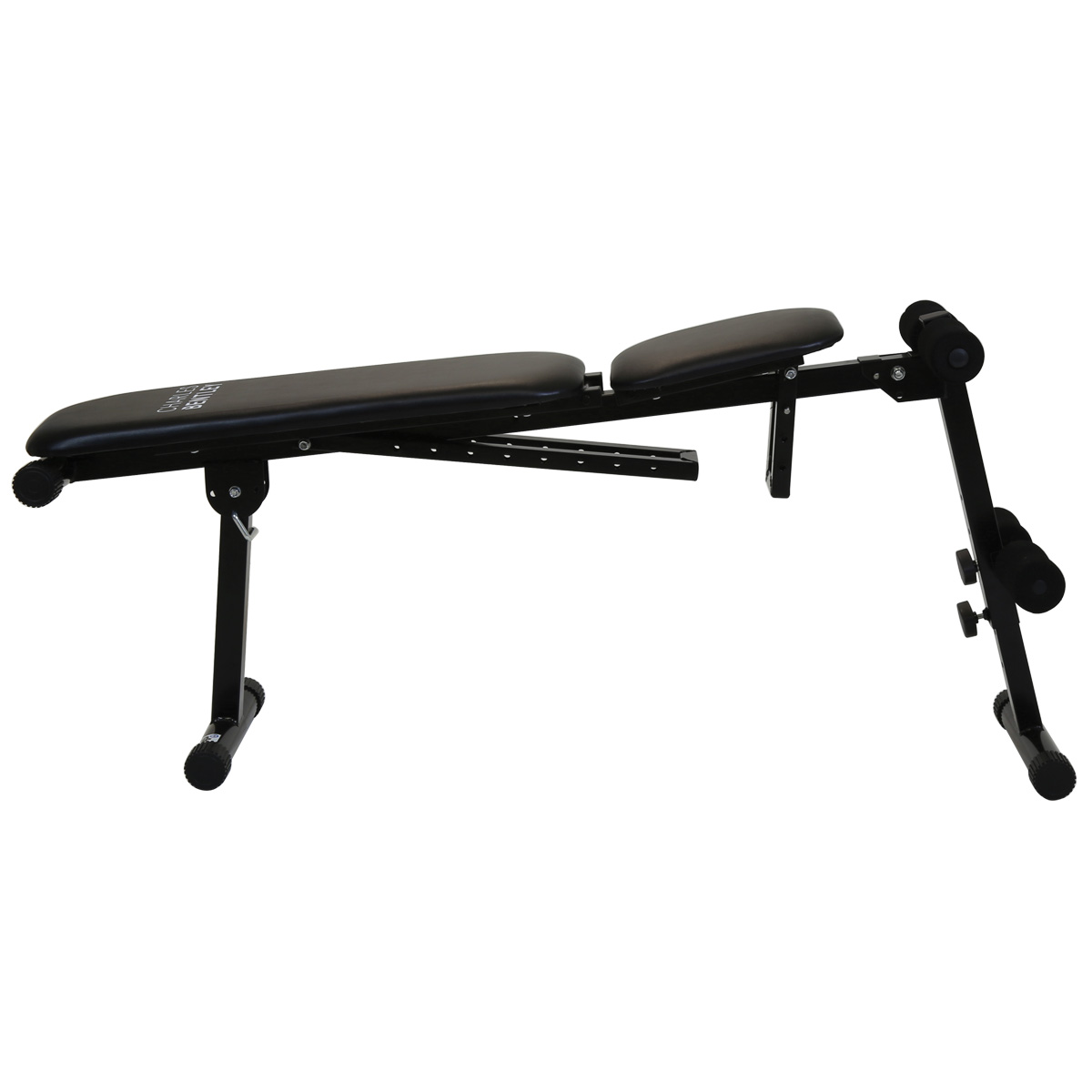 Charles Bentley Weight Bench Adjustable Folding Crunches Abs Workout Black Ebay