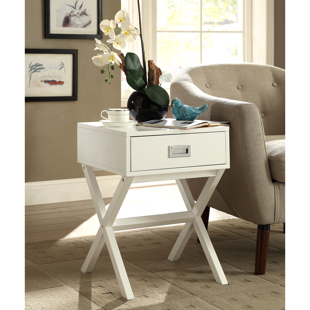 Charles-Bentley-Retro-Side-Table-Bedside-Table-MDF-Bedroom-Furniture-3-Colours thumbnail 3