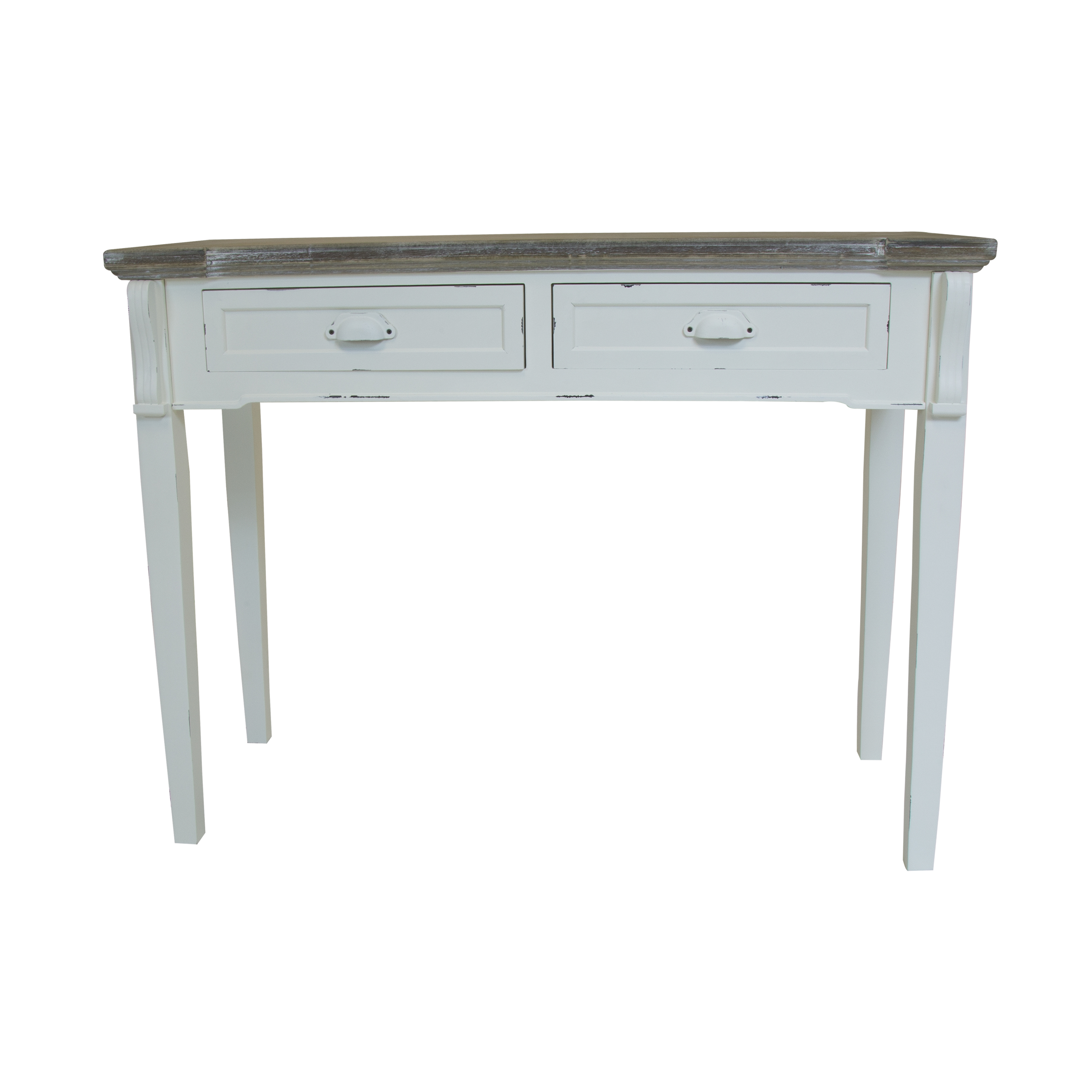 Bentley White Shabby Chic Vintage French Style 2 Drawer Console