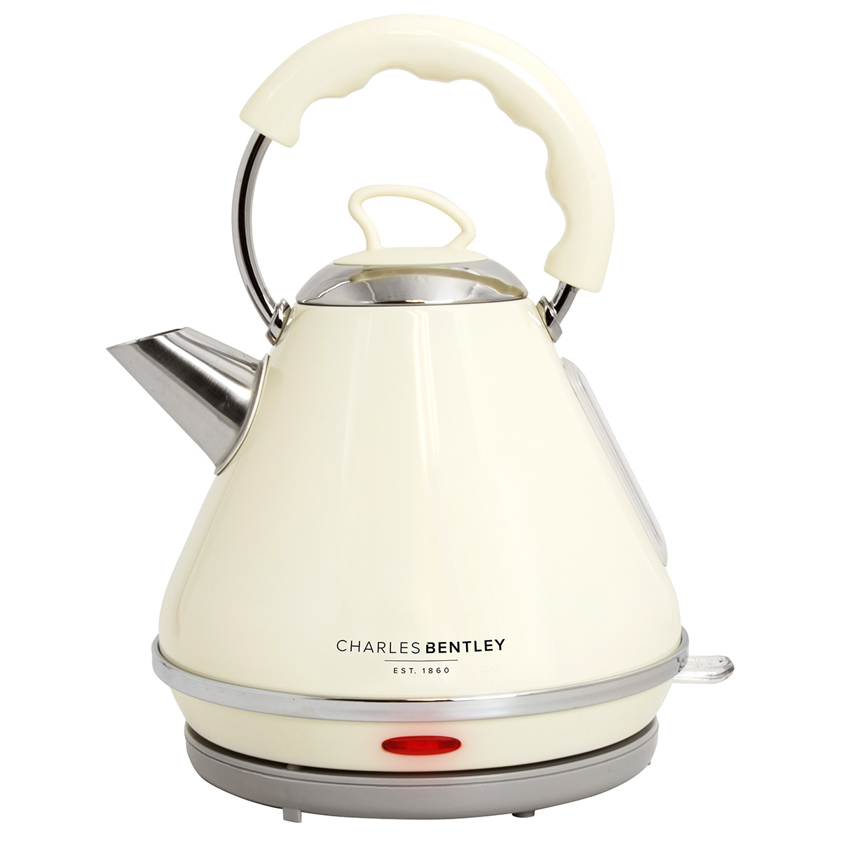 charles bentley cordless cream pyramid kettle 3000w 1 7 litre stainless steel ebay. Black Bedroom Furniture Sets. Home Design Ideas