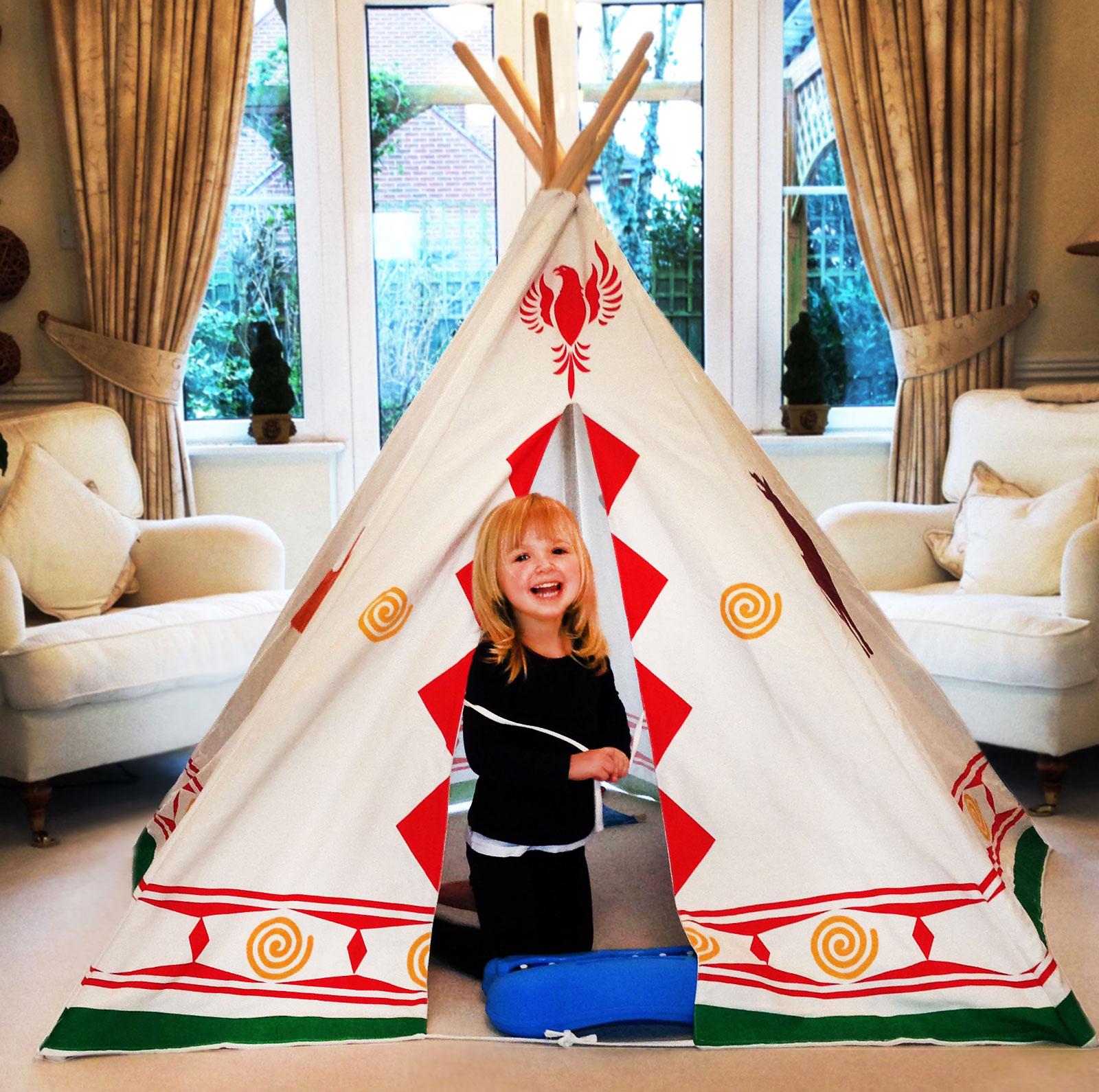bentley kids spielzeug indianerzelt tipi wigwam f r. Black Bedroom Furniture Sets. Home Design Ideas