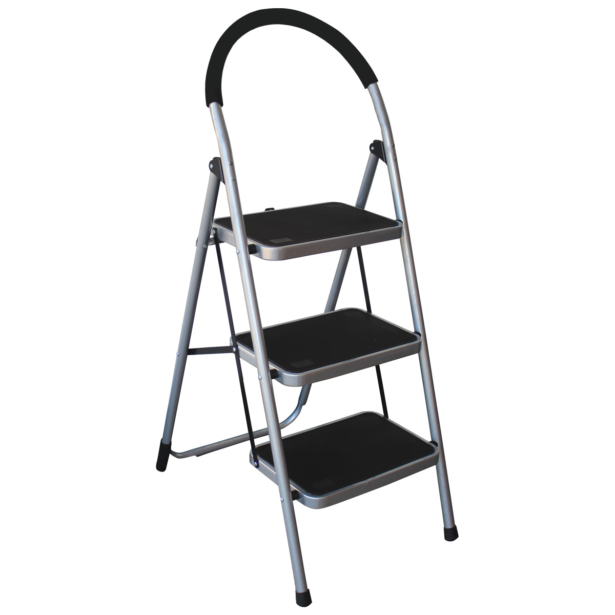 Charles Bentley 3 Step Tread Folding Household Step Ladder