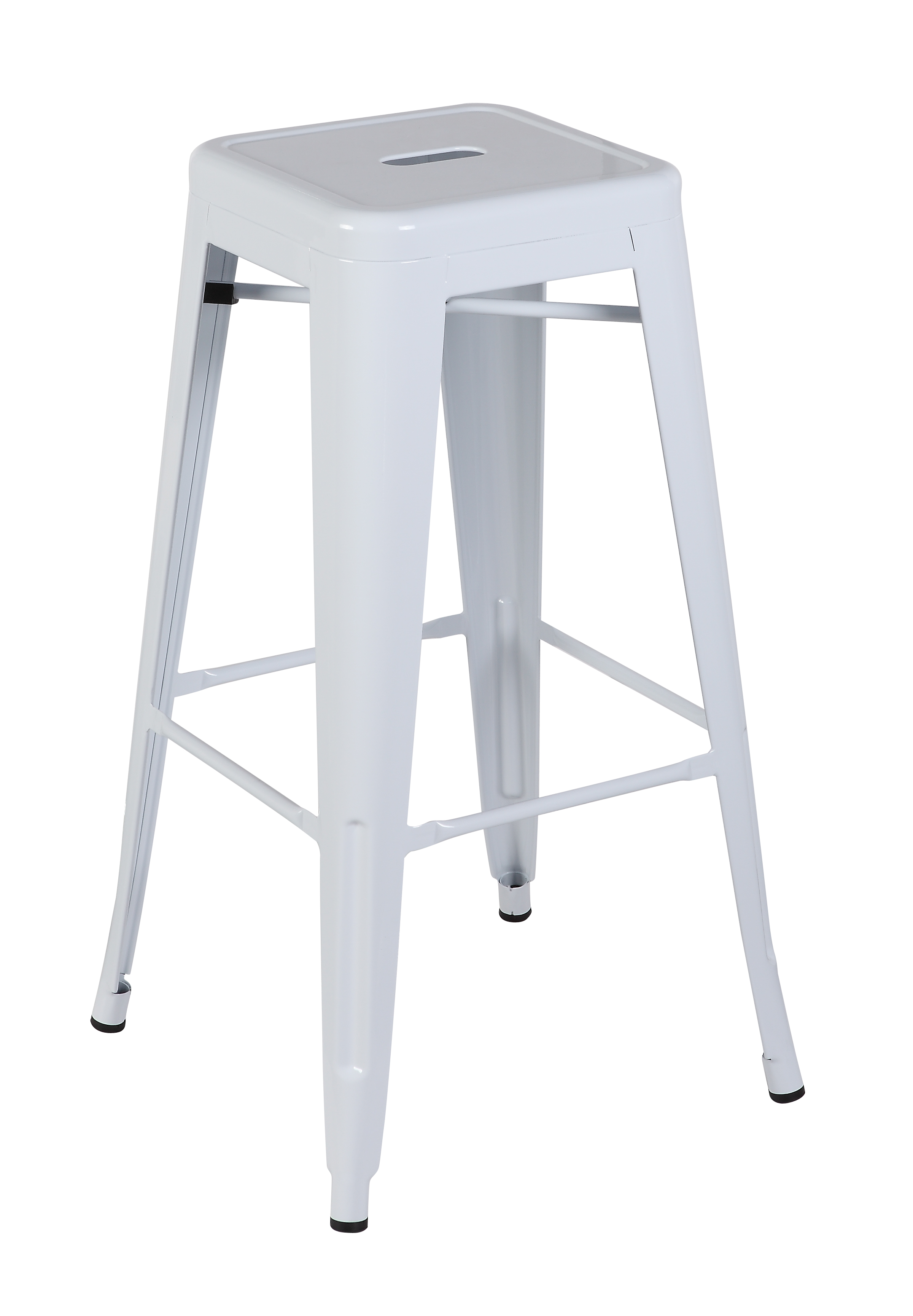 Charles Bentley Metal French Style High Bar Stool Bistro