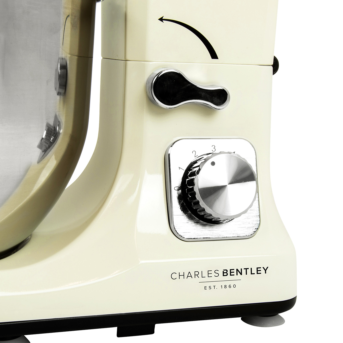 charles bentley 1000w cream food stand mixer 5l bowl. Black Bedroom Furniture Sets. Home Design Ideas